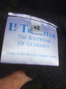 Guernsey Jumper (Charcoal Grey)