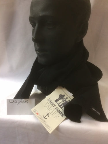 Woolly Knit Scarf (Black/Noir)