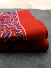 Load image into Gallery viewer, Paisley Hankerchief (Red)
