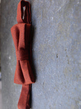 Load image into Gallery viewer, Tweed Wool Bow Tie (Rust)