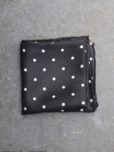 Pocket Square | Polka Dot (Black)