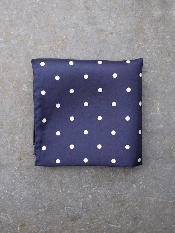 Pocket Square | Polka Dot (Navy)