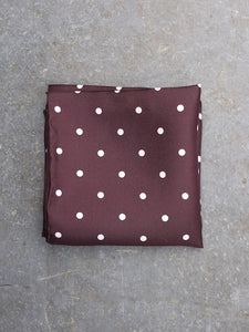 Pocket Square | Polka Dot (Burgundy)