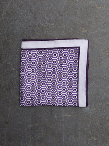 Pocket Square | Geometric (Purple)