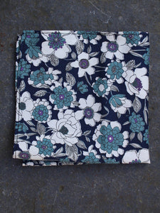 Pocket Square | Flower Bed (Cerulean)