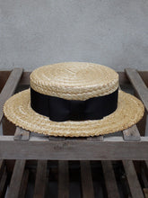 Load image into Gallery viewer, Traditional Straw Boater Hat