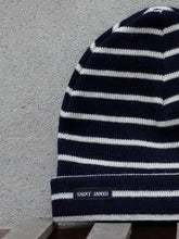 Load image into Gallery viewer, Stripey Knit Hat (Navy)