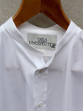 Load image into Gallery viewer, Collarless Shirt (White) single cuffs