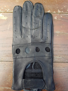 Leather Driving Gloves (Black)