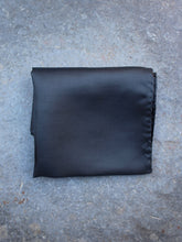 Load image into Gallery viewer, Silk Pocket Square (Black)
