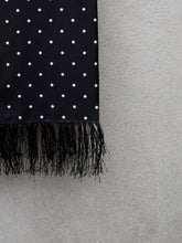 Load image into Gallery viewer, Polkadot Silk Scarf (Black)