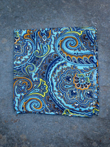 Pocket Square | Paisley (Marine)