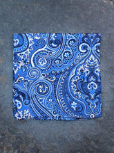 Load image into Gallery viewer, Pocket Square | Paisley (Blue)