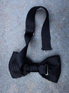 Silk Knit Bow Tie (Black)