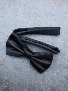 Formal Silk Bow Tie (Black)