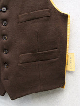 Load image into Gallery viewer, Wool Waistcoat (Chestnut Brown)