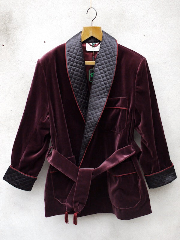 Smoking Jacket | Velvet (Burgundy)