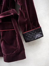 Load image into Gallery viewer, Smoking Jacket | Velvet (Burgundy)