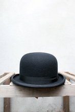 Load image into Gallery viewer, Black Bowler Hat