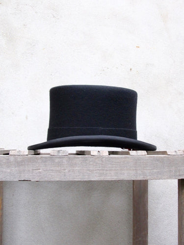 Fine Wool Top Hat (Black)