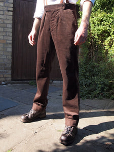 Fishtail Trousers | Corduroy (Choc)