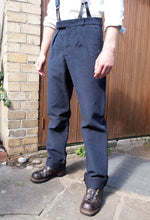 Load image into Gallery viewer, Fishtail Trousers | Moleskin (Navy)