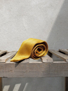 Silk Knit Tie (Gold)