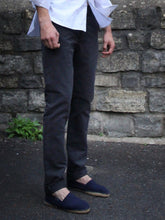 Load image into Gallery viewer, Tailored Moleskin Trousers (Charcoal Grey)