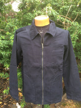 Load image into Gallery viewer, Zephyr11 Navy Cotton Drill Jacket by Saint James Zip down smock style jacket