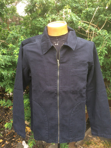 Zephyr11 Navy Cotton Drill Jacket by Saint James Zip down smock style jacket