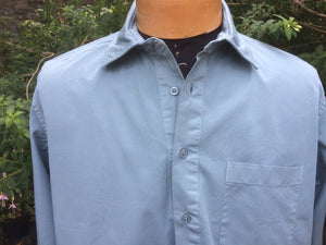 Work Shirt (Soft Sky) 100% Cotton Pullover work shirt 'Vintage Pattern'