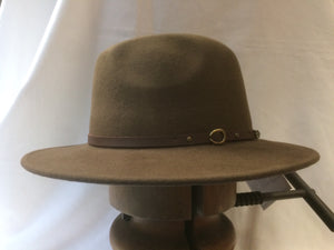 "Christys' Crushable Safari in sable brown 3"" brim"