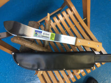 Load image into Gallery viewer, Machete in Carbon Steel made in Brazil with sheath, 37cm. blade, 50cm. overall length