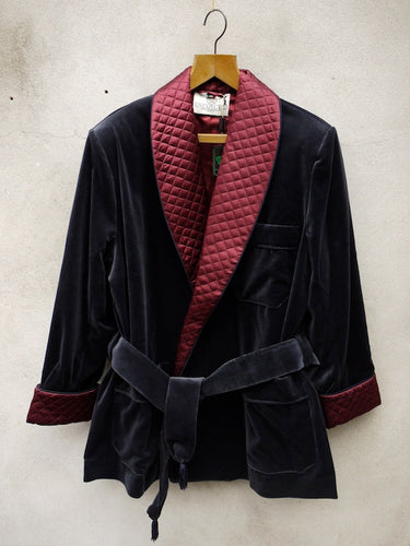 Smoking Jacket | Velvet (Navy)