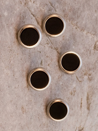 Onyx Shirt Studs gilt surround