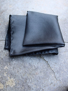 Silk Pocket Square (Black)
