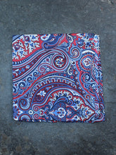Load image into Gallery viewer, Pocket Square | Paisley (Pink)