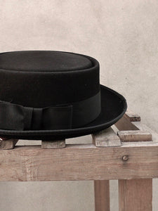 Pork Pie Hat (Black)