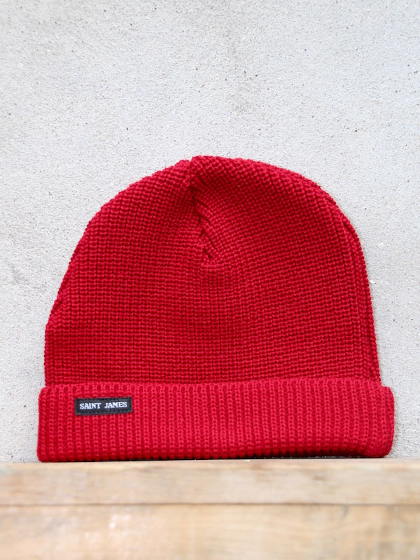 Sailors Knit Hat (Red) Unis A by Saint James