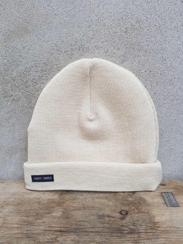 Sailors Knit Hat (Cream) Unis A by Saint James