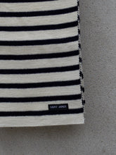 Load image into Gallery viewer, Stripey Knit Scarf (Cream)