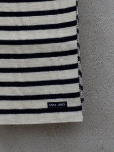 Stripey Knit Scarf (Cream)