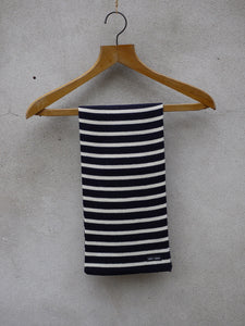Stripey Knit Scarf (Navy)