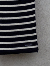 Load image into Gallery viewer, Stripey Knit Scarf (Navy)