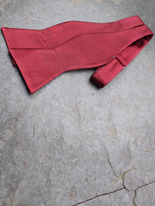 Silk Self Tie Bow (Wine Red)