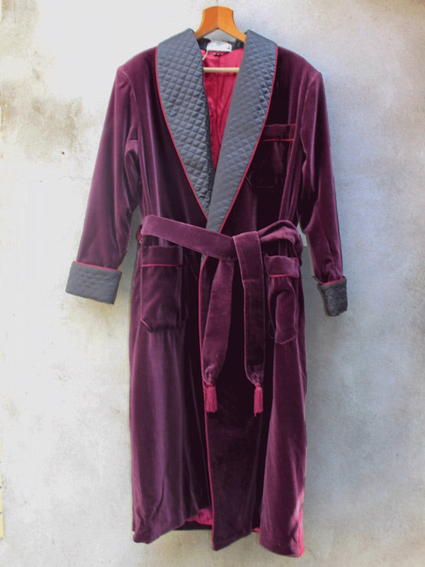 Dressing Robe | Velvet (Burgundy)
