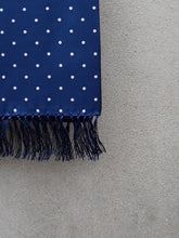 Load image into Gallery viewer, Polkadot Silk Scarf (Blue)