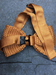 Silk Knit Bow Tie (Gold)