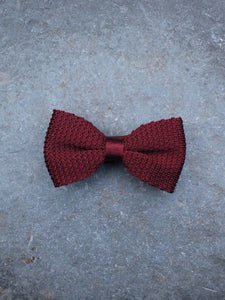 Silk Knit Bow Tie (Red)