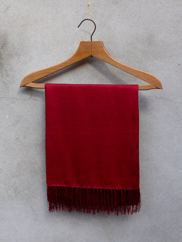 Silk Dress Scarf (Red)